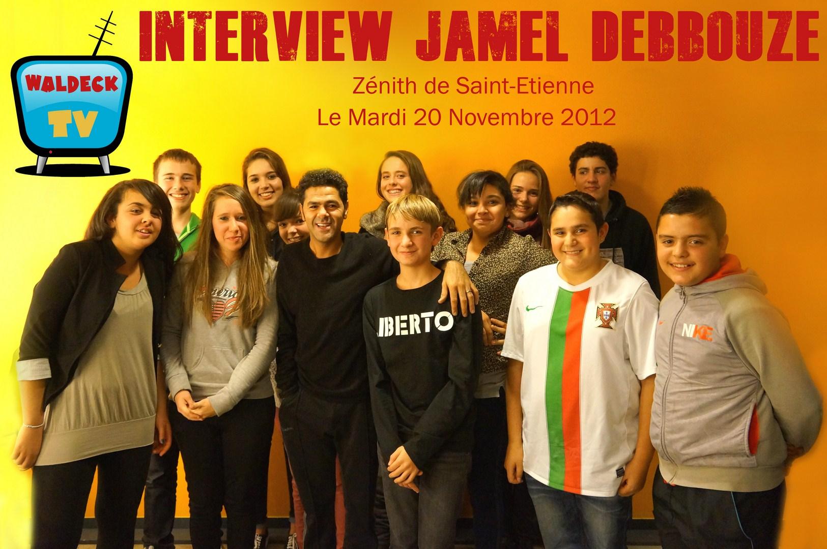 interview jamel debbouze sur waldeck TV